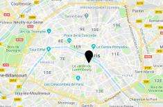 Hotel Collège de France - Map Paris